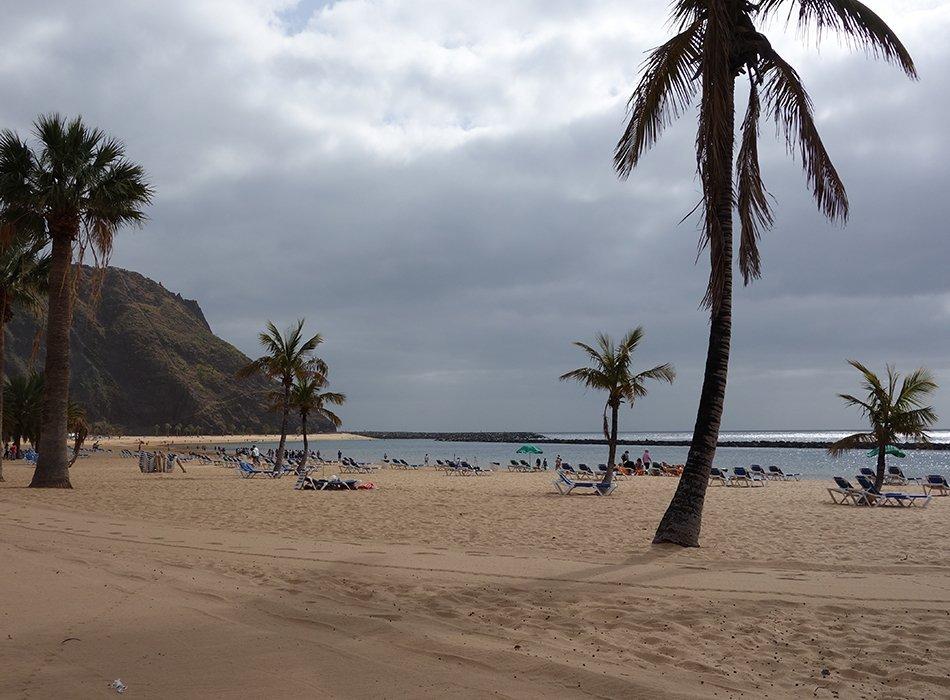 Strand Teneriffa Sand playa de las teresitas