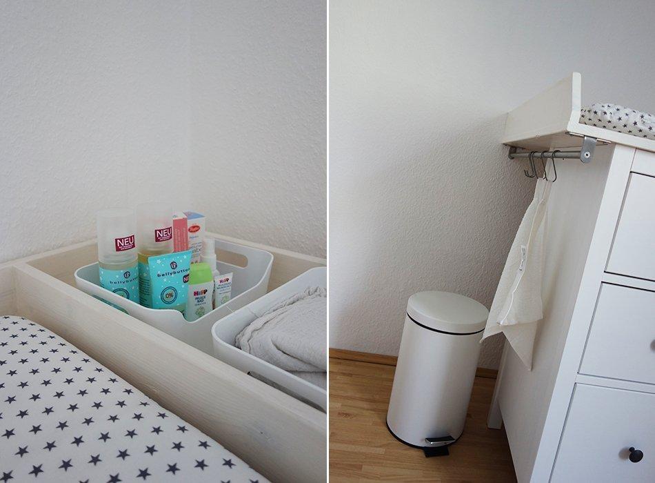 Baby Kinderzimmer Sugarapple Grau Weiß Gelb Sterne Ikea Hemnes Wickeltisch