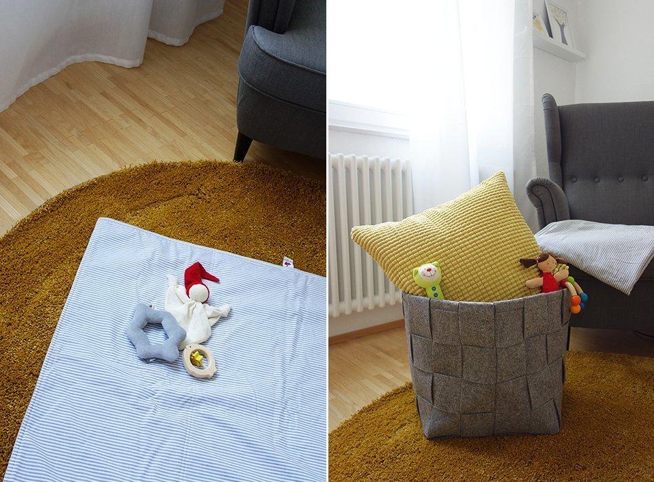 baby kinderzimmer sugarapple grau weiß gelb sterne6