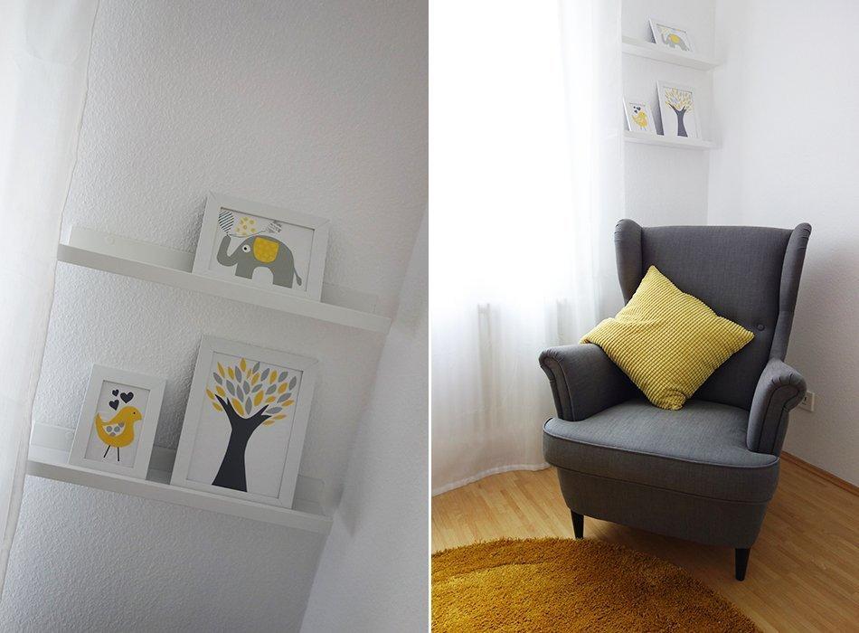 unser sein kinderzimmer grau wei gelb ekulele familienleben rezepte mode kosmetik. Black Bedroom Furniture Sets. Home Design Ideas