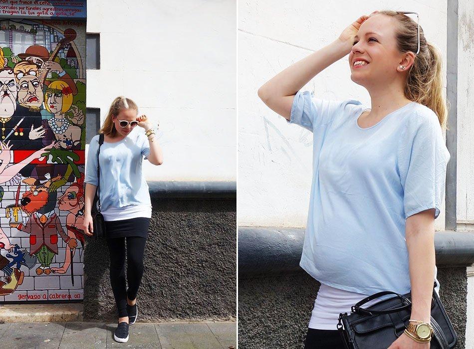 rebecca minkoff schwanger blau weiß leggings 4