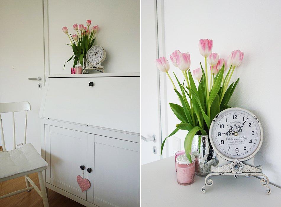 wohnzimmer deko pink