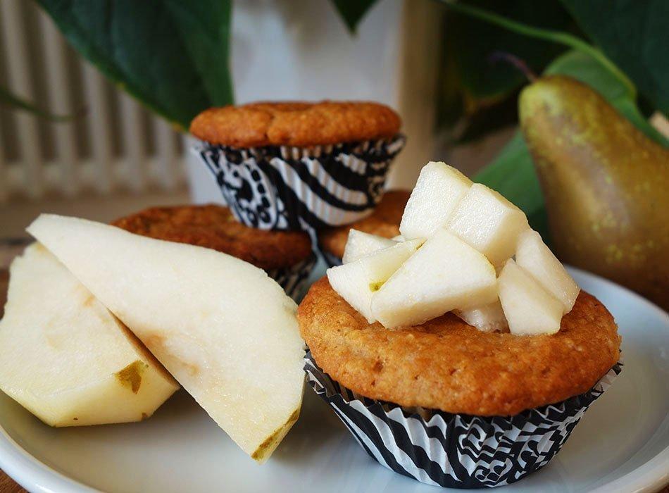 vegan muffin hirse gesund birne 1