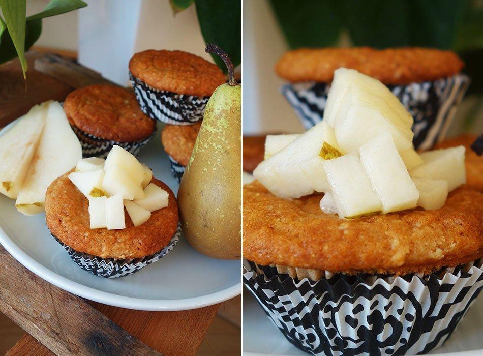 vegan muffin hirse gesund birne