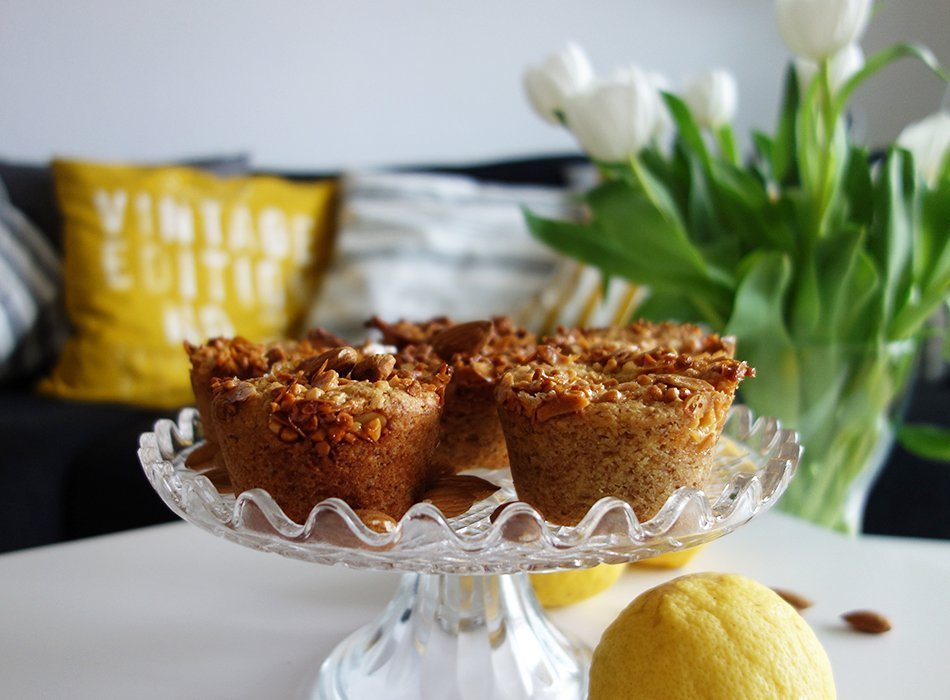muffin vegan mandel zitrone gesund