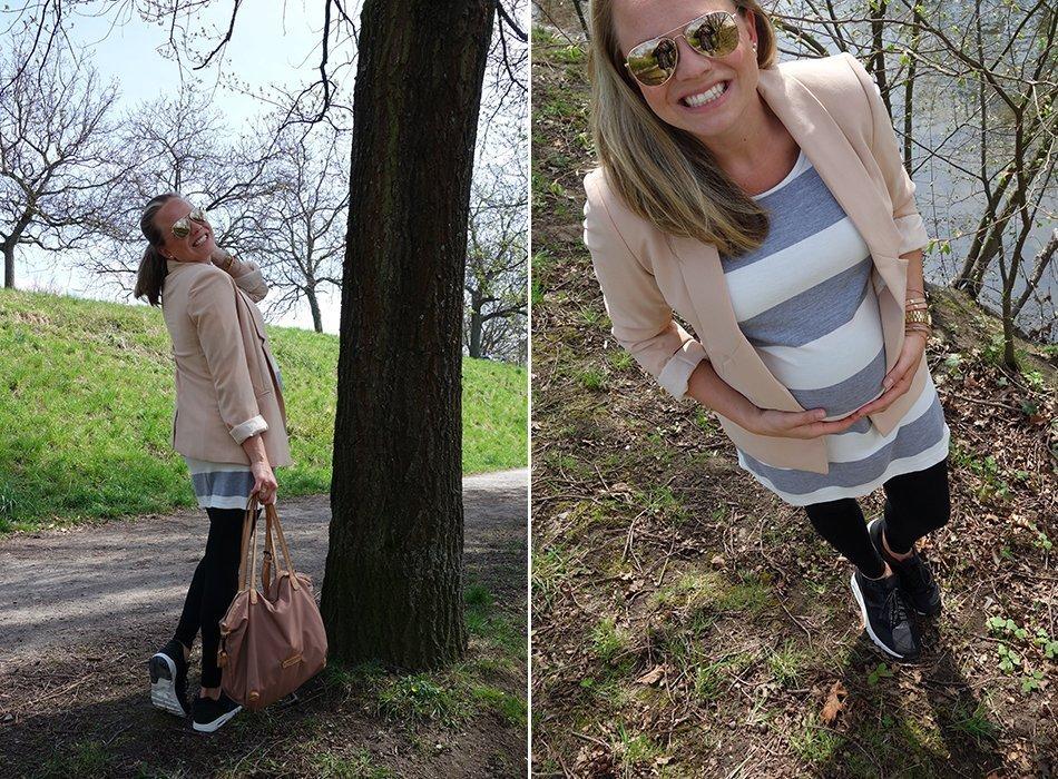 nike schwanger umstandsmode blazer kleid 1