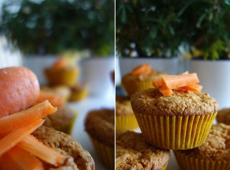 ekulele. vegane, karotten, muffins, gesund, muffins, möhre