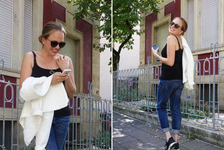 Boyfriend Jeans Blazer Sneakers Nike Casual Streetstyle ekulele