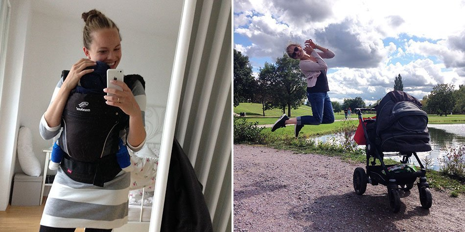 sport nach der schwangerschaft babypfunde verlieren ekulele mamablogger fitness afterpregnancy workout
