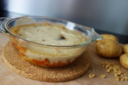 esslust fooddiary vegan gesund essen clean foodblogger ekulele musaka ohne fleisch maisnudeln