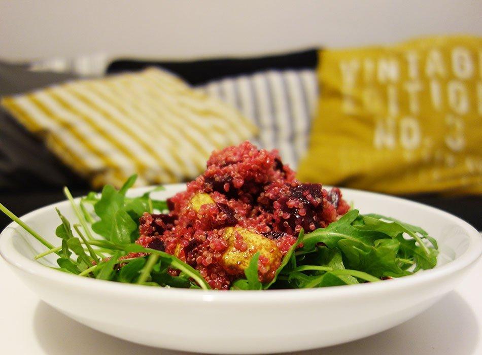 Quinoa Salat, veganer Salat, Wintersalat, Rote Bete, Gesunder Salat, Salat mit viel Eisen, foodblogger, ekulele
