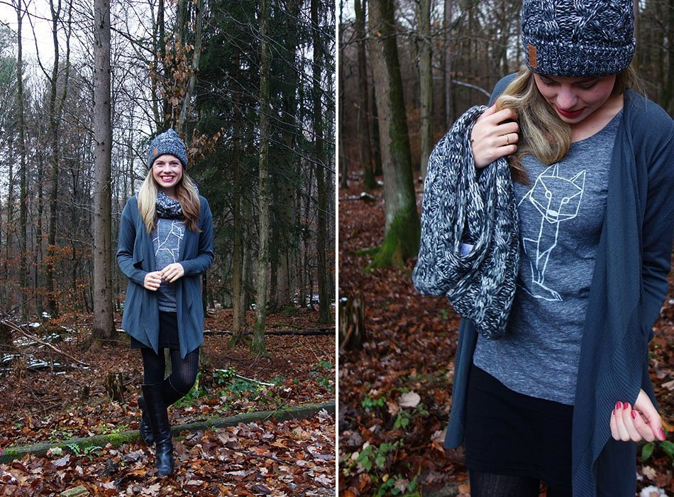 shirt mit fuchsdruck. fair fashion, biobaumwolle, fashionblog, herbstlook, outfit für den herbst, ekulele