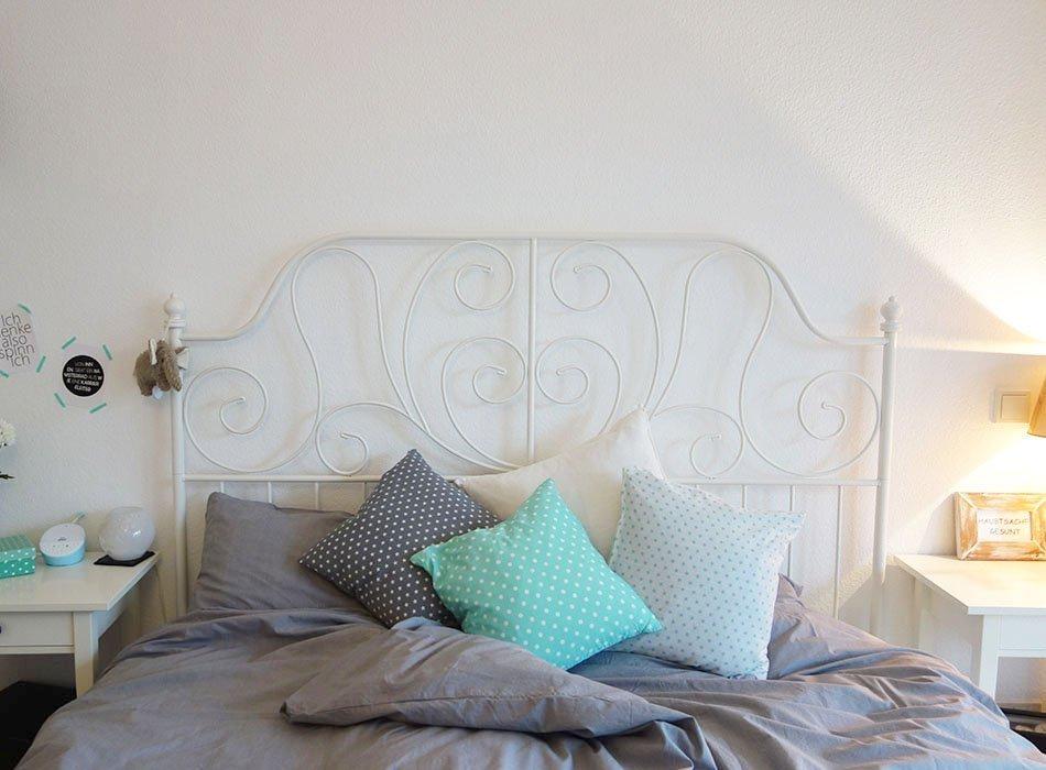 Unser Neues Schlafzimme, Schlafzimmer Mit Kupfer, Ikea Schlafzimmer, Graue  Bettwäsche, Ekulele,