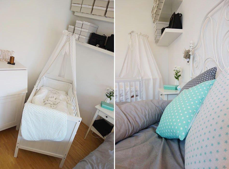 Unser neues schlafzimmer in grau wei t rkis und kupfer for Neues zimmer einrichten