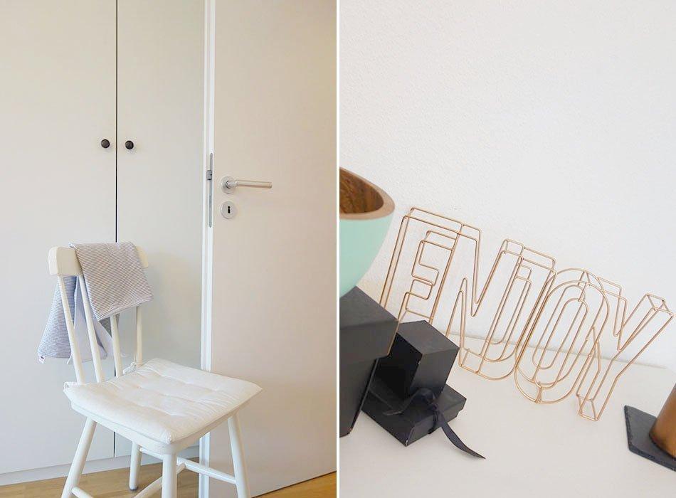 Unser neues Schlafzimmer in grau, weiß, türkis und kupfer ...
