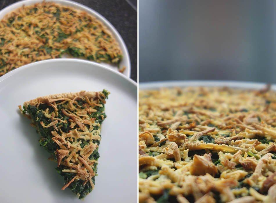 Rezept für eine vegane Spinat Quiche
