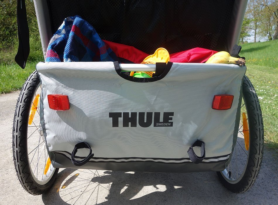 thule, chariot, thule anhänger, ekulele, mamablog, unterwegs mit kind, radtour mit kindern
