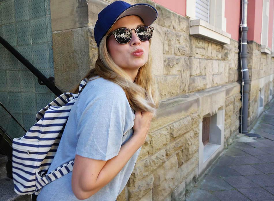 Rucksack streifen, bio rucksack, fair fashion, leinenshirt, ekulele, modeblog, fair blog, mamastyle, mumstyle, cool mum