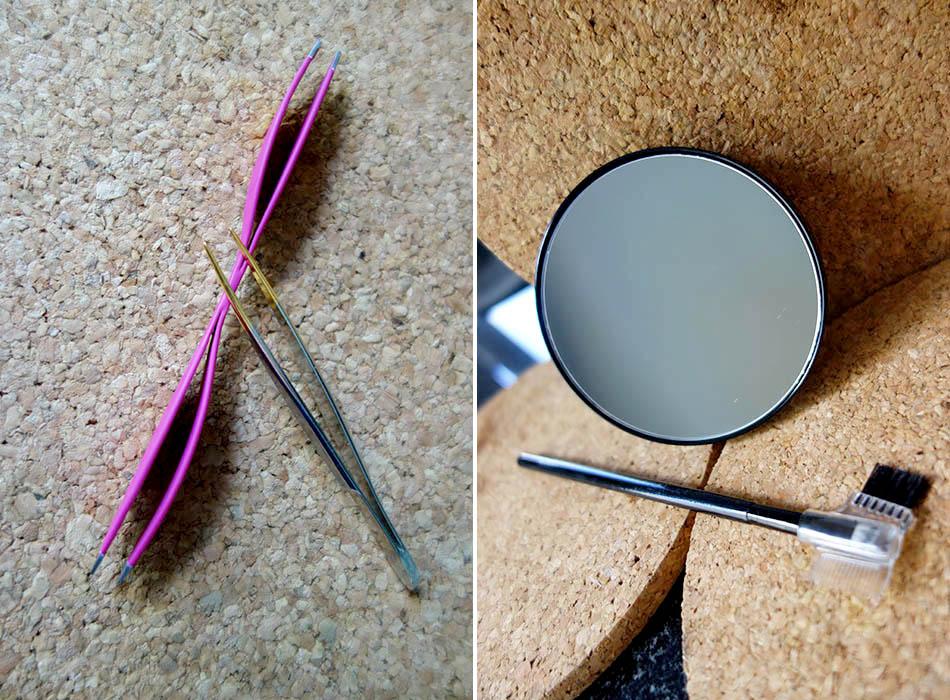 Perfekte Augenbrauen mit Parsa Beauty und alverde, vergroesserungsspiegel, spitze pinzentte, beautyblog, puder fuer augen (3)