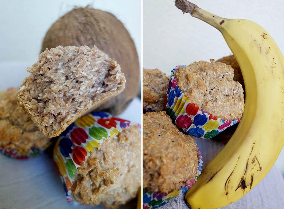 vegan, muffins baby, kleinkind snack, ekulelefood, vegane muffins, backen mit banane, kokosöl, ekulele, mamablogger