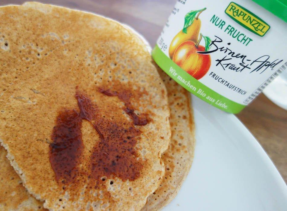gesunde Pfannkuchen, ekulele, mamablog, fruchts klecks, Marmelade ohne zucker,