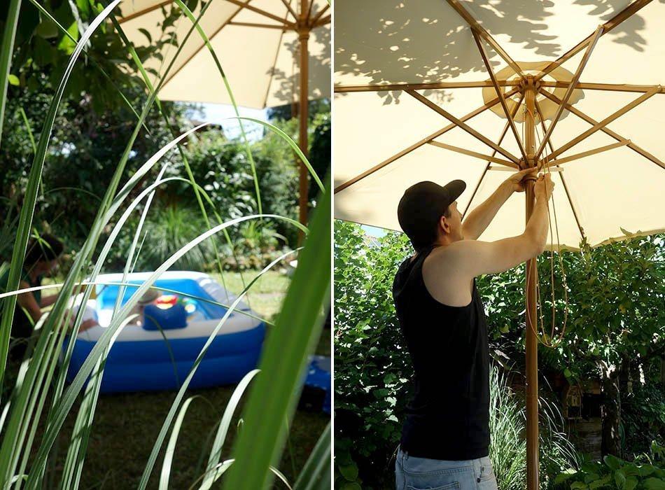 Urlaub im Garten - ein perfekter Sommertag, ekulele, sonnenschirm, gartentag, schoener garten, urlaub daheim, mamablog, sonntag im garten (3)