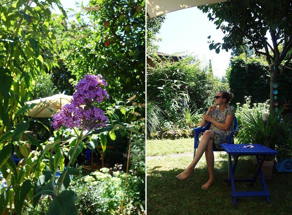Urlaub im garten, sommer im garten, familientag, schneider schirme, blaue oase, ekulele, familienblog