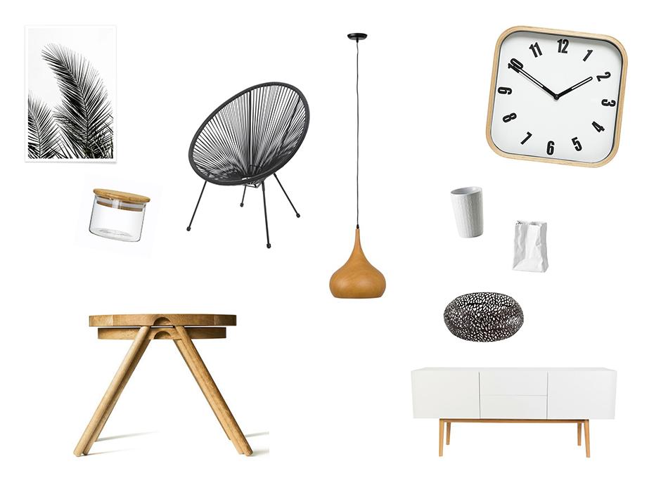 moderne wohnung weiss holz, wohnaccessoires in weiß, schwarz, holz, einrichtung, modern wohnen, Design ideen