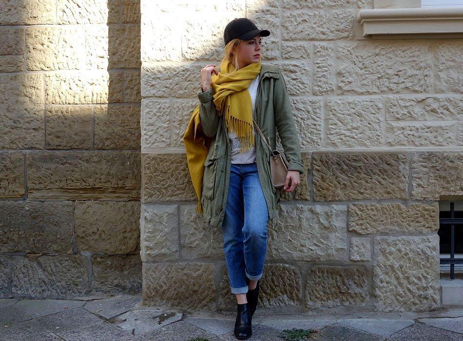 mamafashion, herbstlook, autumn fashion, ekulele, blog karlsruhe, lookbook, gelber Schal, vegane Tasche