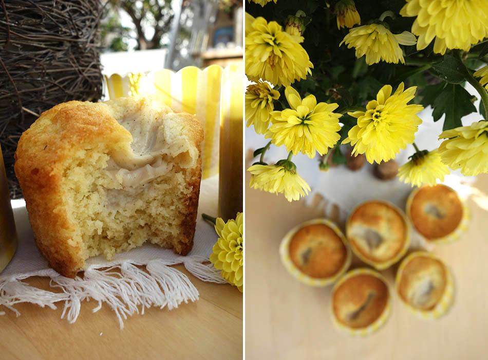 muffins mit vanillepudding mit und ohne tierischen. Black Bedroom Furniture Sets. Home Design Ideas
