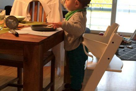 mamablogger, ekulele, essen für kleinkinder, gesunder speiseplan, vegetarische ernährung, familienleben, hochstuhl, alltag mit kind