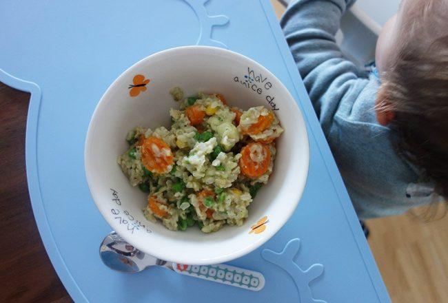 Reis mit gemuese, ekulelefood, vegetarisch, mittagessen, zutisch, gesund, lecker, einfach, familie, mamablog, instamom, mama und kind, schmeckt