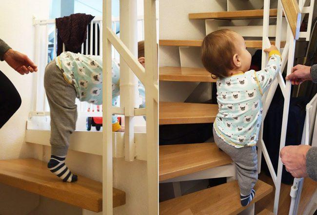 oma blog, mama, enkelkind, vertrauen, verletzungsgefahr, alltag mit kind, oma und enkel, ekulele, bällebad, kinderzimmer, treppen steigen, steile treppe, kleines kind