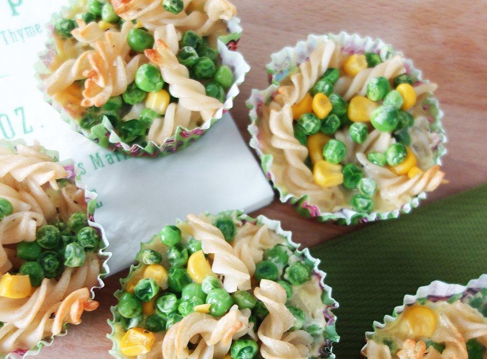 Herzhafte Muffins Mit Nudeln Und Gemuse Ekulele Familienleben