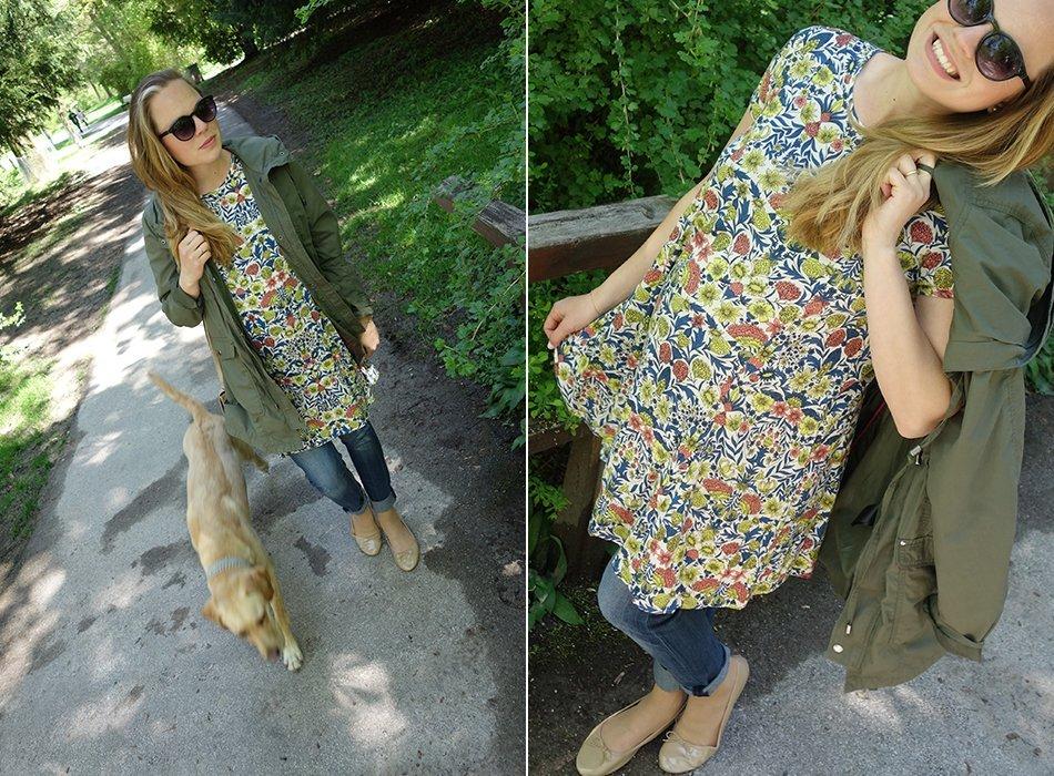 Blumenkleid, Parka und Jeans - maternity spring style, ekulele, umstandsmode, pregnancy, mamablog, fashion, karlsruhe, fruehling, lookbook, vegane tasche, style the bump (9)