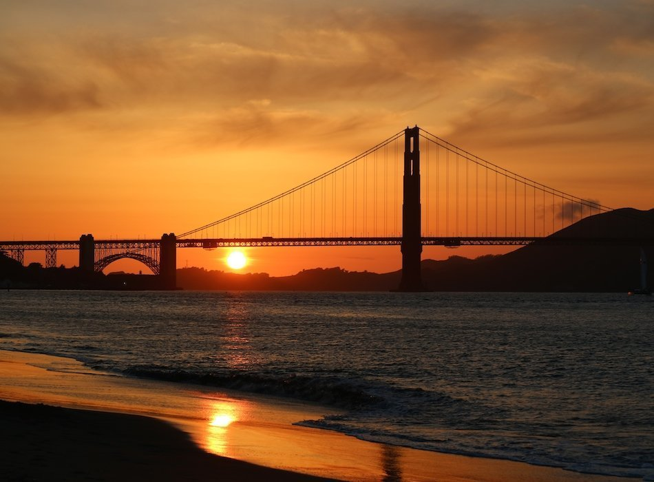 Sonnenuntergang Golden Gate Bridge