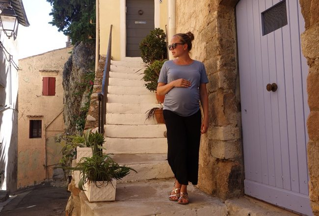 schwanger, hochsommer, ekulele, lookbook, maternity, Stylisch und bequem - Maternity Culottes, Frauke, hyeres, Hose, Rock, Preggo, Style the bump