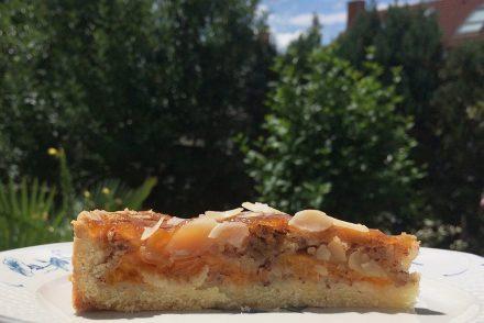 Tarte, sommer, mandel, nuss, aprikose, ekulele, frauke, mamablog, einfach, schnell