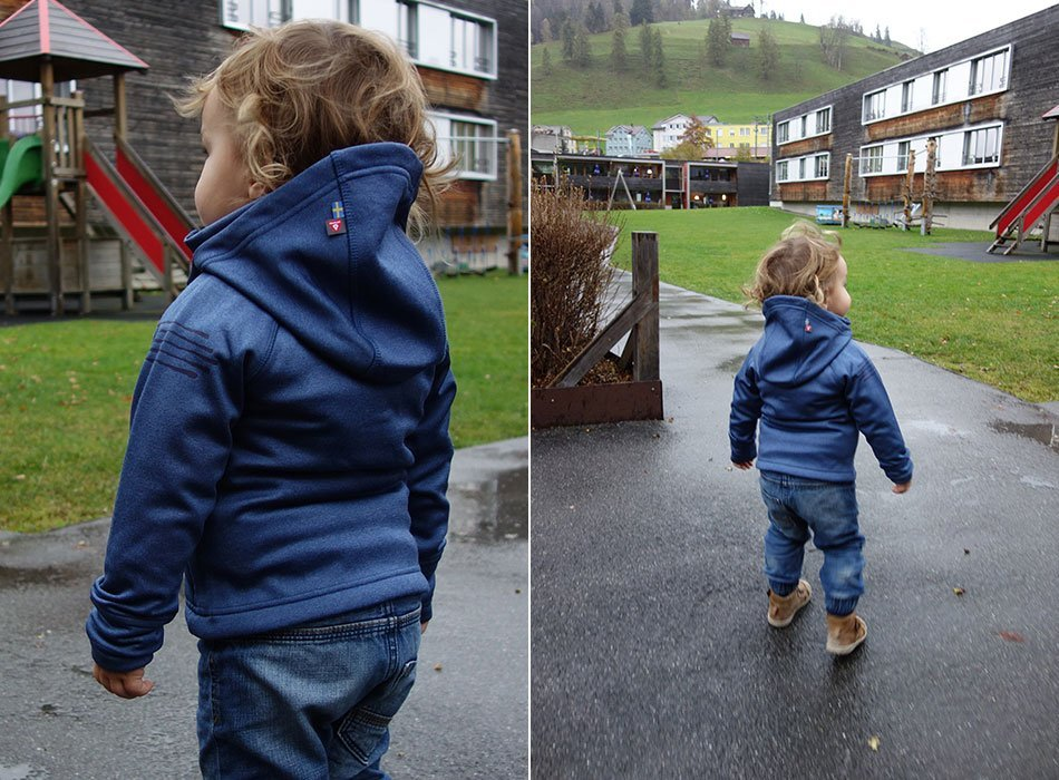 Funktionskleidung, kinder, mamablog, schweden, isbjörn, viel darußen, winterjacke, schnee, warm, leicht, robust, hochwertig, test