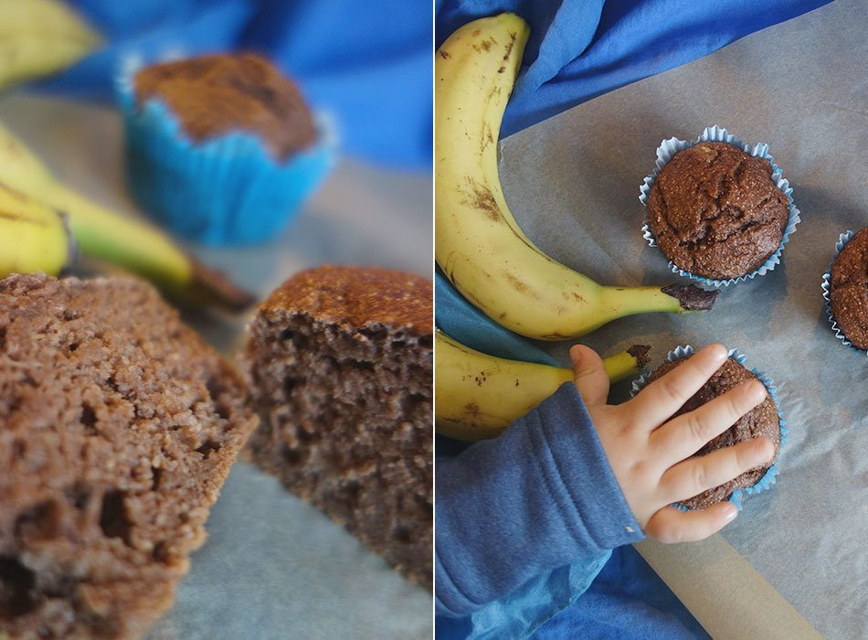 vegan, ekulele, food, healthy, banane, kleinkind, muffins, erster geburtstag, kuchen, kindergarten, snack, mamablog