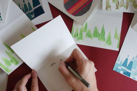 basteln, karten, weihnachten, diy, stempel, rolle, fusselrolle, schnell, kinderleicht, farbtonfächer, baumarkt, washi tape, tannenbaum