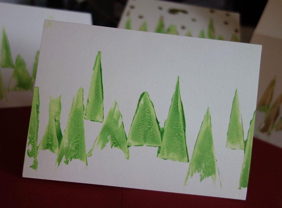 Weihnachtskarten selbst gestalten 3 schnelle und - Weihnachtskarten kreativ ...