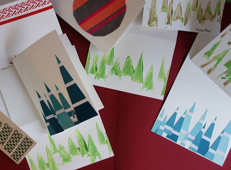 Weihnachtskarten Selbst Gestalten 3 Schnelle Und Einfache