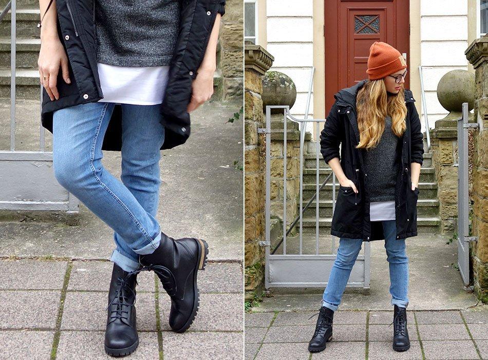 ekulele, fair fahion, ootf, look, nachhaltig, weekday jeans, mütze, longpullpver, bio, baumwolle