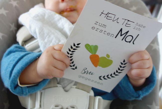 Beikost, start, baby, 6 monate, brei baby led weaning, rezepte, mamablog
