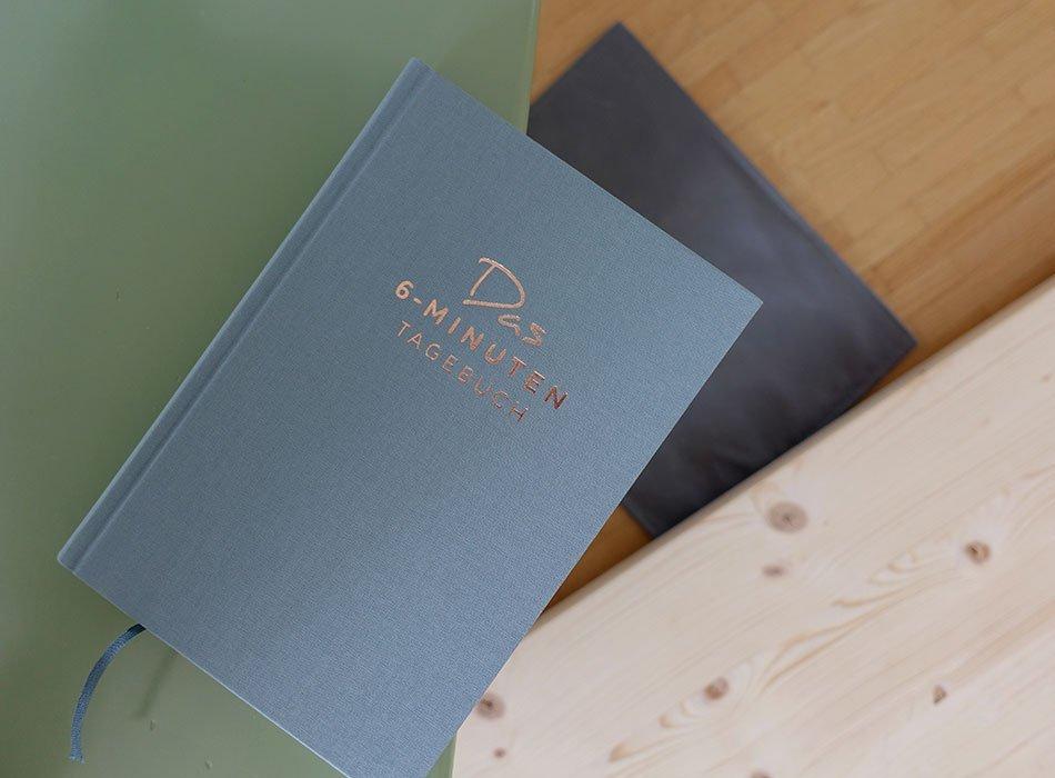 6 Minuten Tagebuch, Glück, positiv Denken, Übung, Fortschritt, Weiterentwicklung, Persönlichkeit
