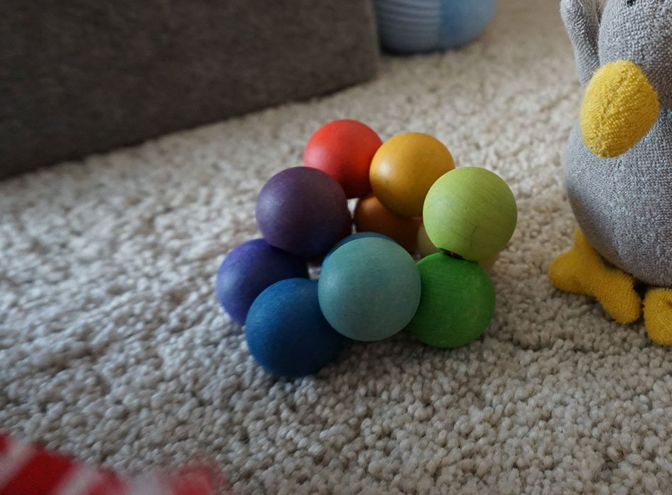 Babyspielzeug, Bio, waldorf, hochwertig, greifling, grimms, kugeln