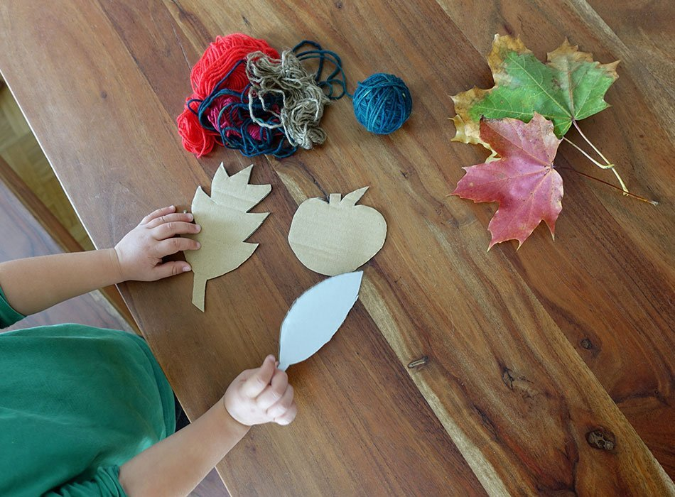 Autumn, children, crafts, ideas, everyday life, consciously experiencing seasons