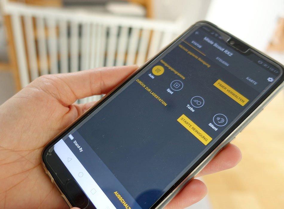Saugroboter, Miele, Testergebnis, Erfahrung, Preis, Sauberkeit, App RX2
