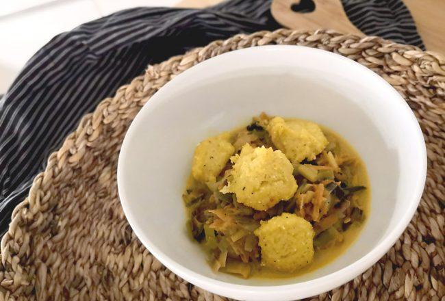 Polenta kochen für Kinder, einfaches Mittagessen
